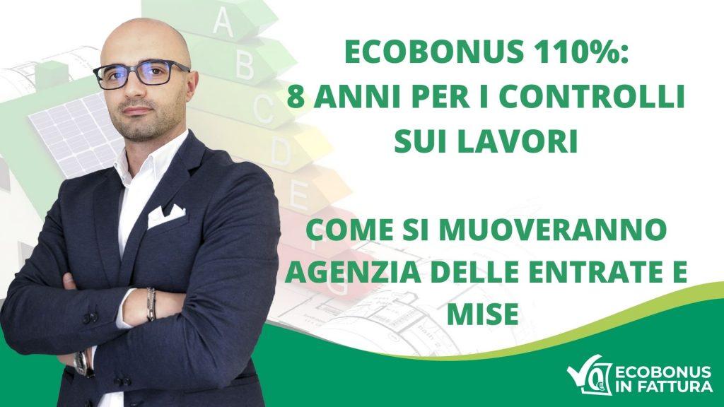 controlli_ecobonus_110_agenzia_delle_entrate_ecobonus_in_fattura_basilicata: foto di Raffale Lentini con titolo dell'articolo in bianco su fondo verde