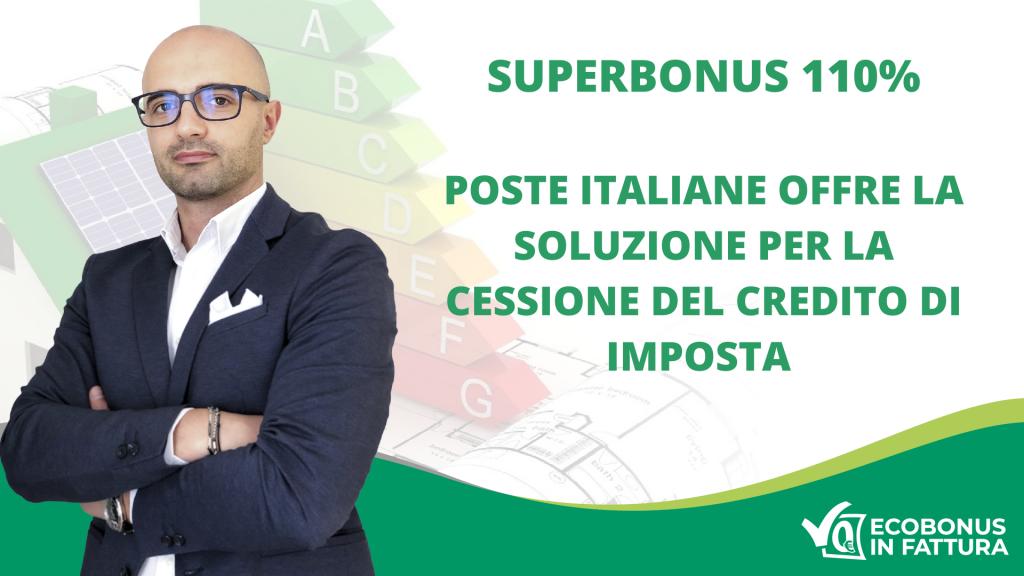 Superbonus 110% Poste Italiane per la cessione del credito