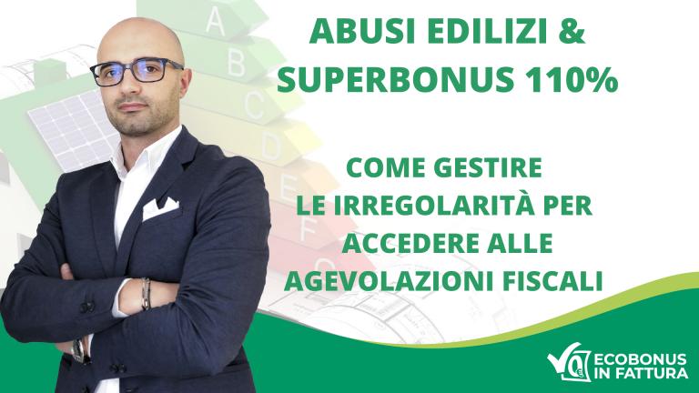 abusi edilizi Superbonus 110% Basilicata | Ecobonus in Fattura