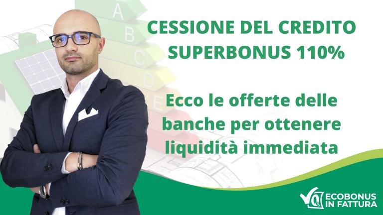 Banche che accettano la cessione del credito Superbonus 110% in Basilicata