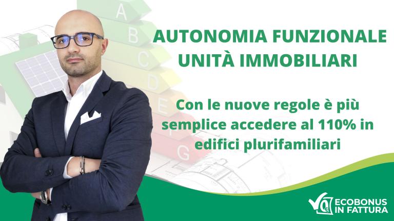 autonomia funzionale Superbonus 110% Basilicata: le nuove regole per gli edifici plurifamiliari