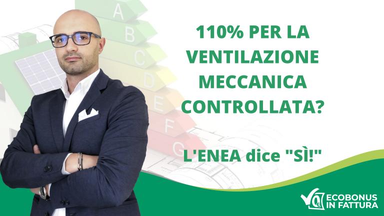 Ventilazione Meccanica Controllata Ecobonus 110% Basilicata